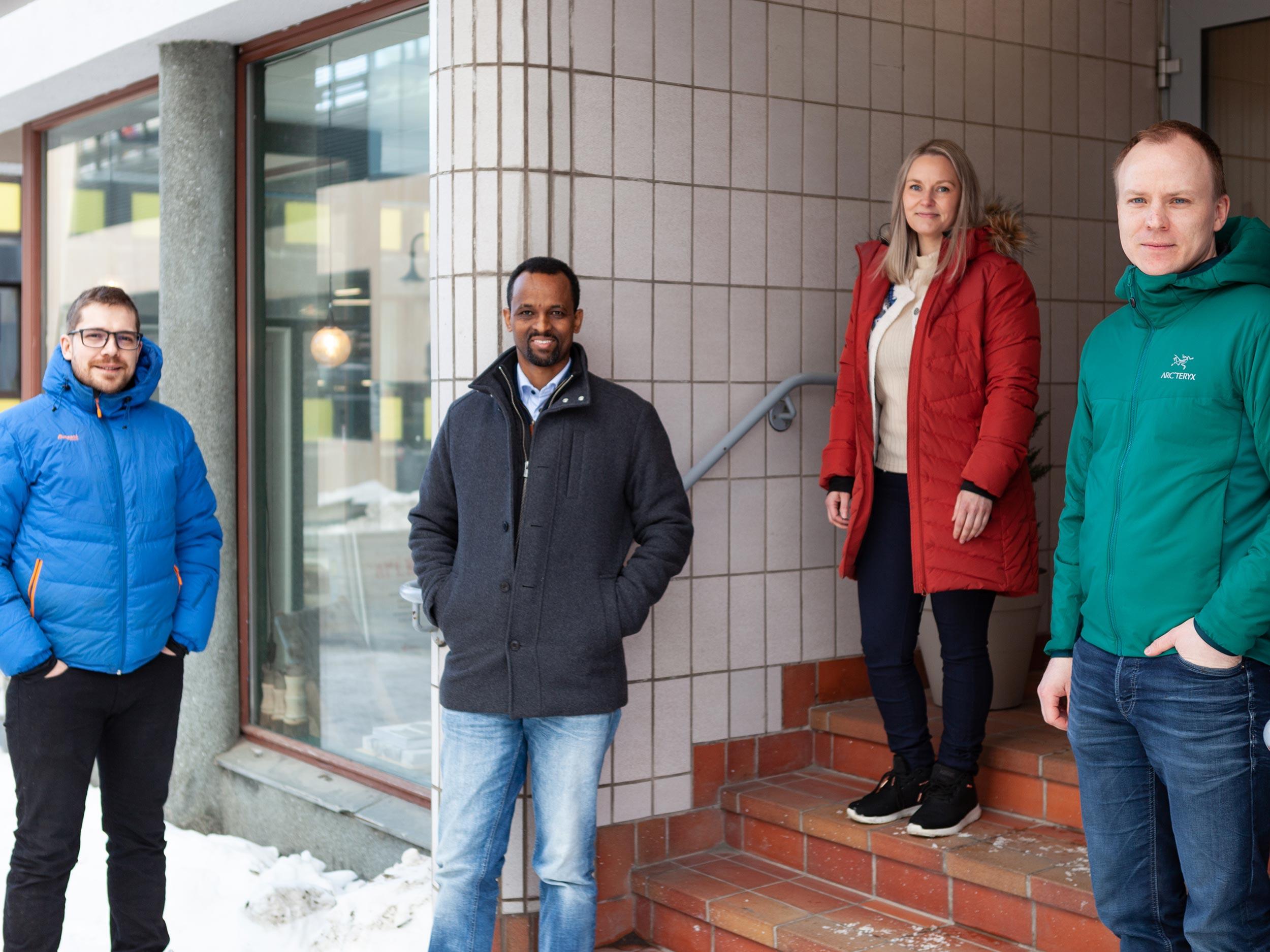 Michael, Segid, Lisa_marie og Tommy er nye på Hinnstein-laget.